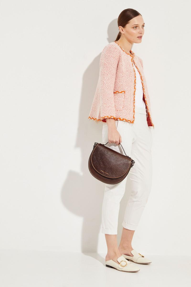 Tweed-Blazer mit Lurexdetails Orange/Multi