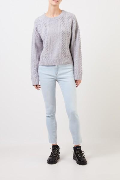 Rag&Bone Highrise-Skinny Jeans 'Nina' Hellblau
