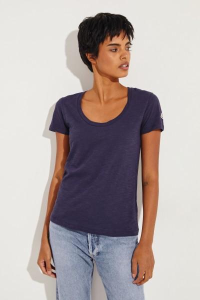 Baumwoll-Shirt Marineblau