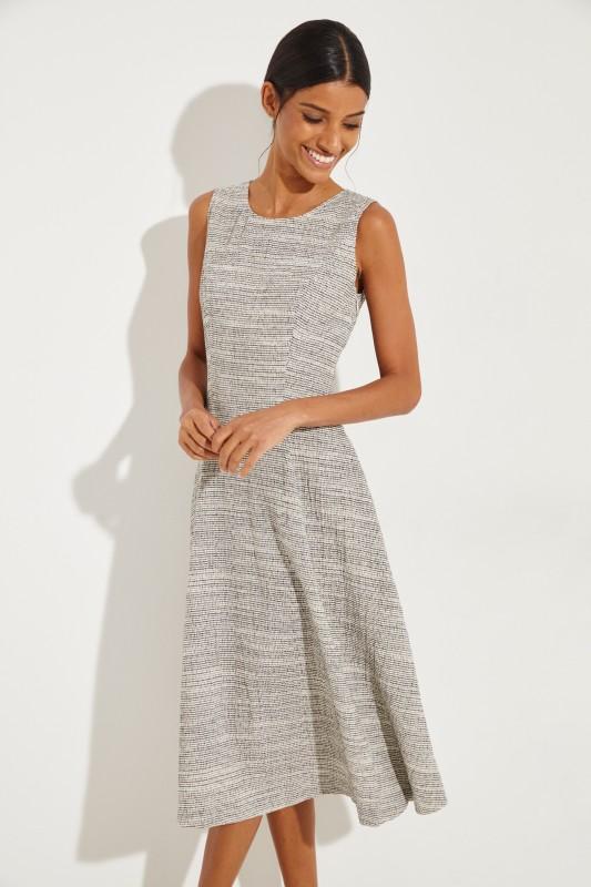 046013e4c92fc Cotton dress with pattern Beige Black