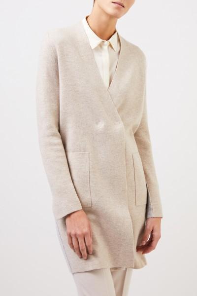 Iris von Arnim Doubleface Cashmere-Cardigan 'Romy' Nature/Grey