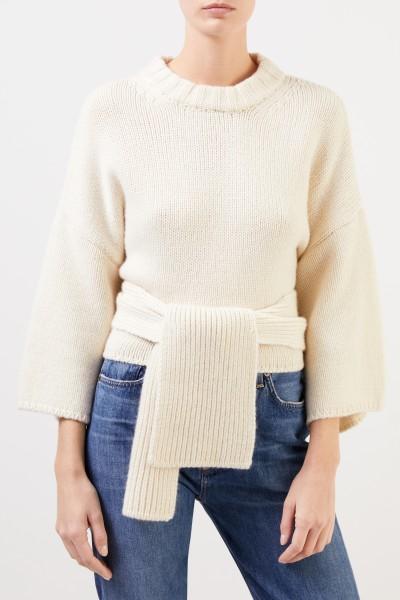 Brock Collection Cashmere-Pullover mit Detail Créme