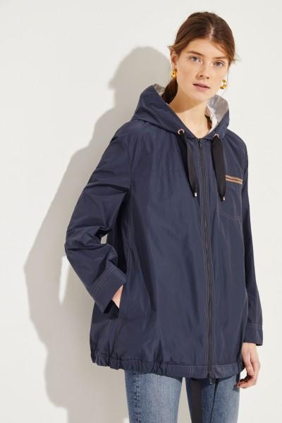 Baumwoll-Jacke mit Perlenverzierung Blau