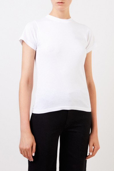 Balenciaga Shirt with Logo Embroidery White