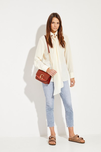 Chloé Silk blouse with binding element White