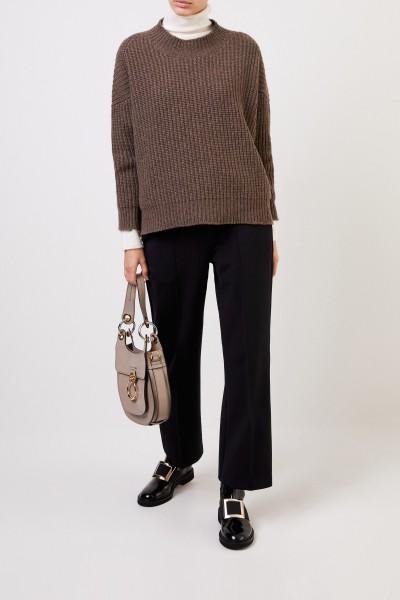 Cashmere Pullover Braunmeliert