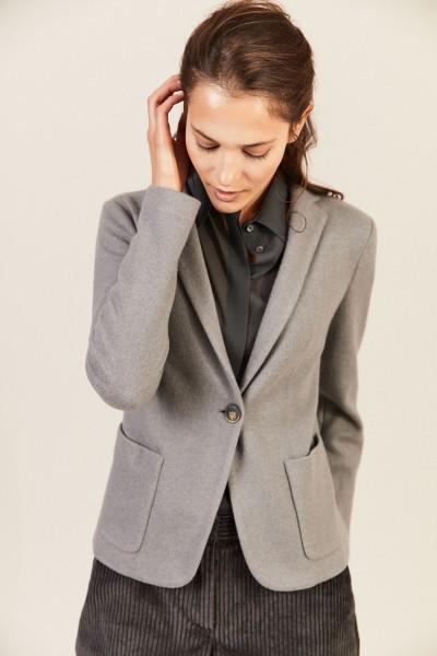 Woll-Seiden-Blazer Grau