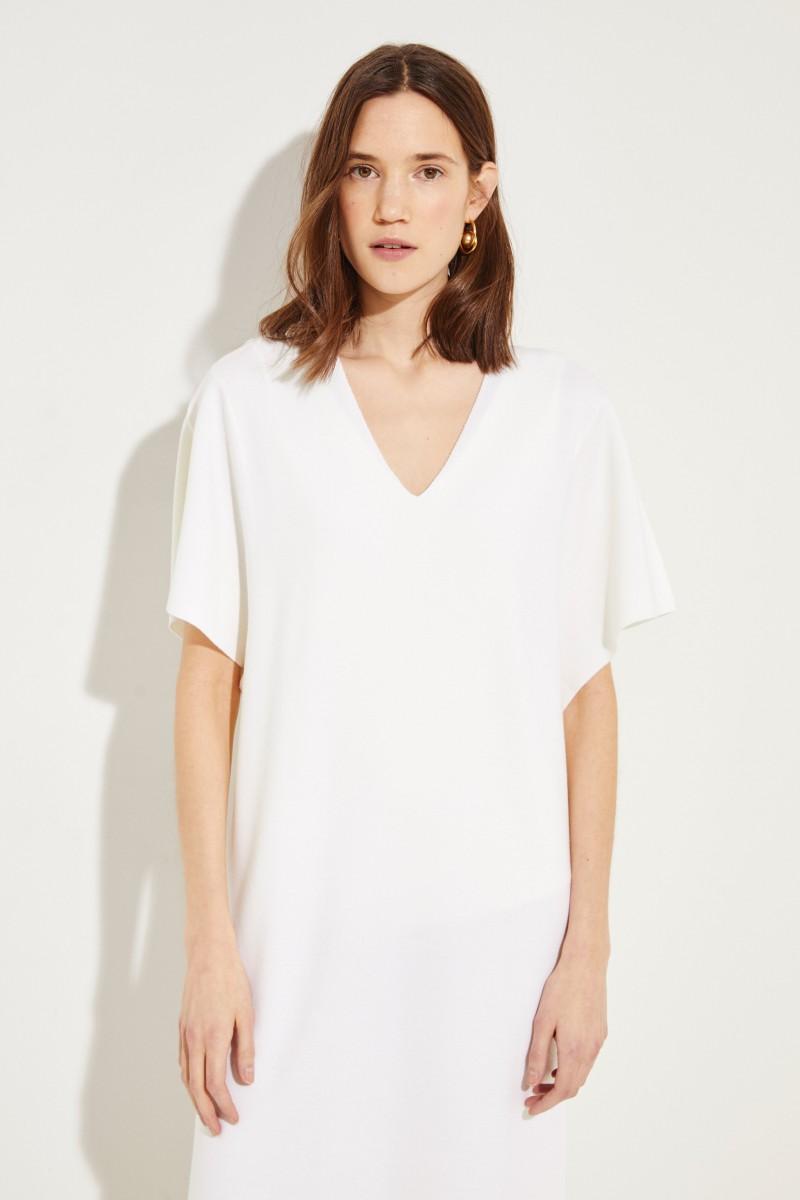 Woll-Kleid Crèmeweiß