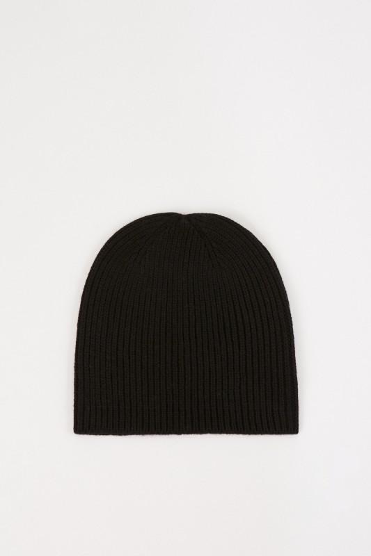 UZWEI Woll-Cashmere-Mütze Schwarz