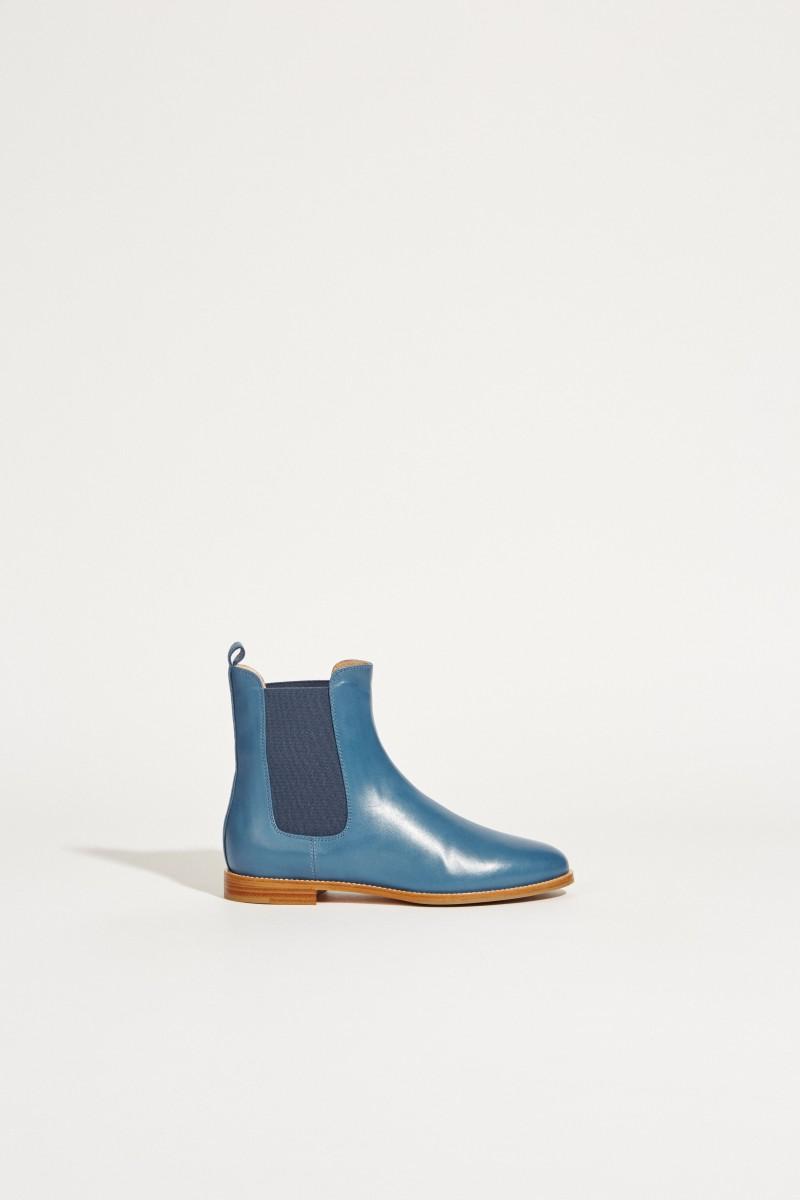 Leder-Chelsea-Boot Blau