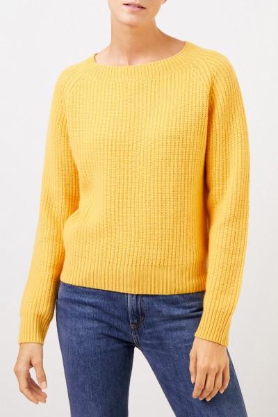 Uzwei Rib knit cashmere pullover Yellow