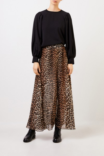Long skirt with leoprint Multi