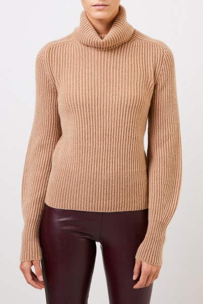 Iris von Arnim Cashmere sweater 'Seille' with turtleneck Camel