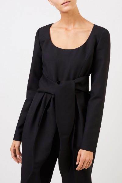 Stella McCartney Wool jumpsuit with binding detail Black