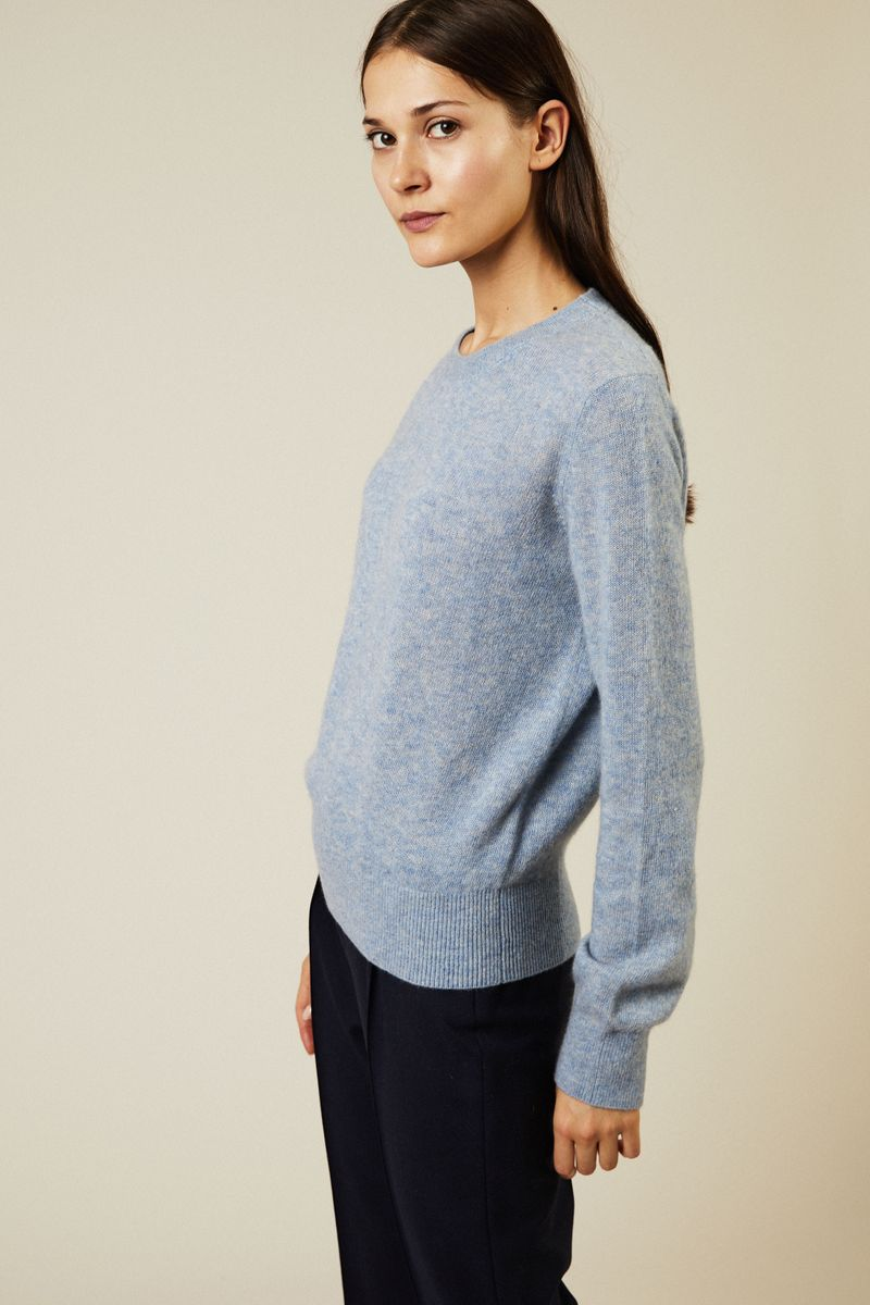 Cashmere-Seiden Pullover 'Minco' Hellblau