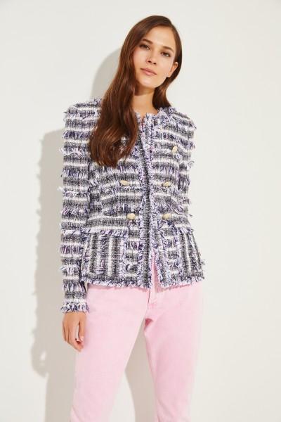 Tweed-Blazer 'Kim' mit Zierknöpfen Multi