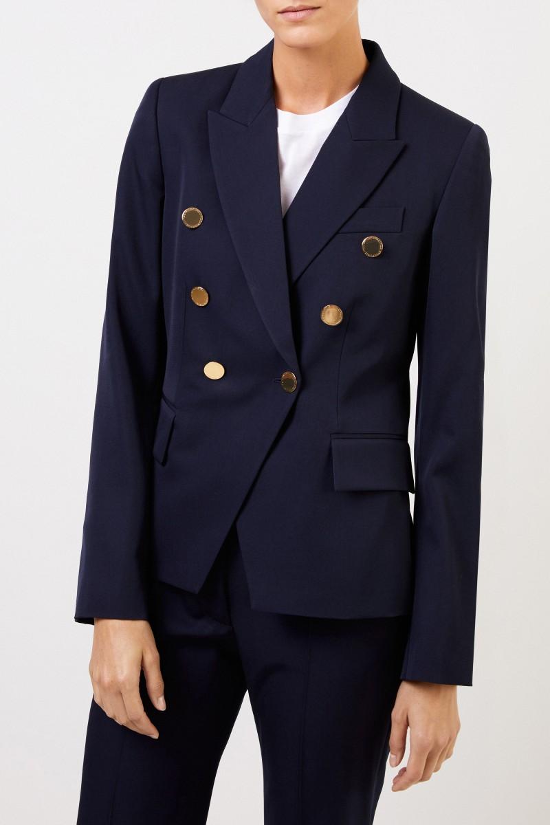 Stella McCartney Woll-Blazer mit Knöpfen Marineblau