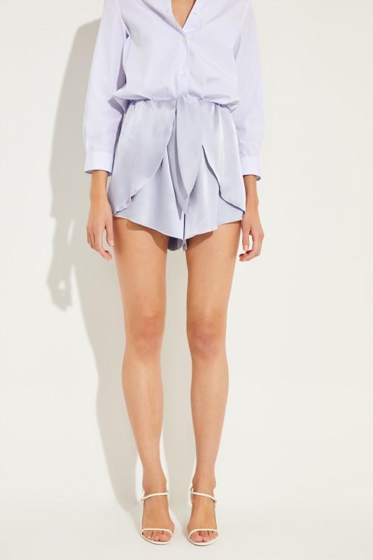 Shorts 'Nala' mit Bindedetail Blau