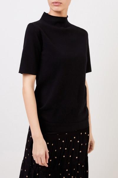 Fabiana Filippi Short sleeve wool silk pullover Black