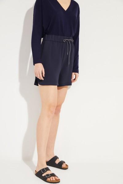 Seiden-Shorts Blau