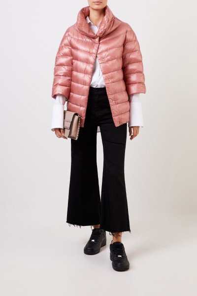 Down jacket with stand-up collar Light Pink