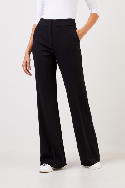 Veronica Beard Classic trousers 'Lebone' with wide leg Black