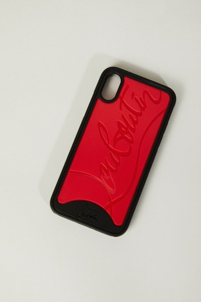 Iphone X-Case 'Loubiphone' Schwarz/Rot