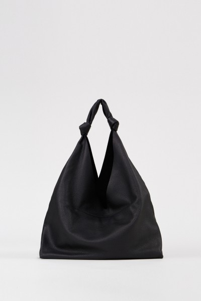 Leather shopper 'Bindle Two' Black