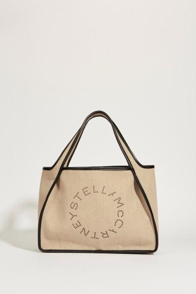 Shopper 'Tote' with Logo Beige/Black