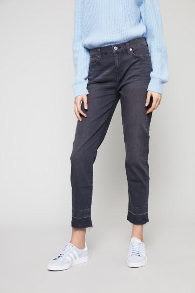 Jeans 'Pyper Crop' Antharzitgrau