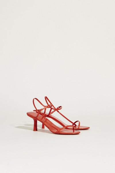 Sandalen aus Leder 'Bare' Rot