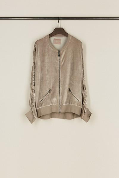 Sweatshirt mit Raffung-Details 'Vallia' Beige