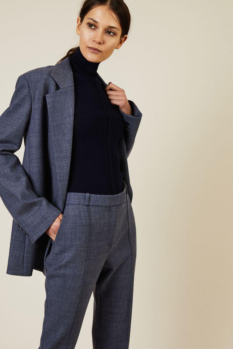 Woll-Hose 'Tao Pant' Grau/Blau