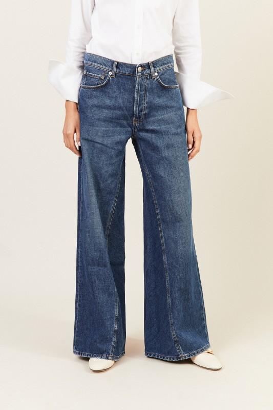 Jeans mit Schlag Blau
