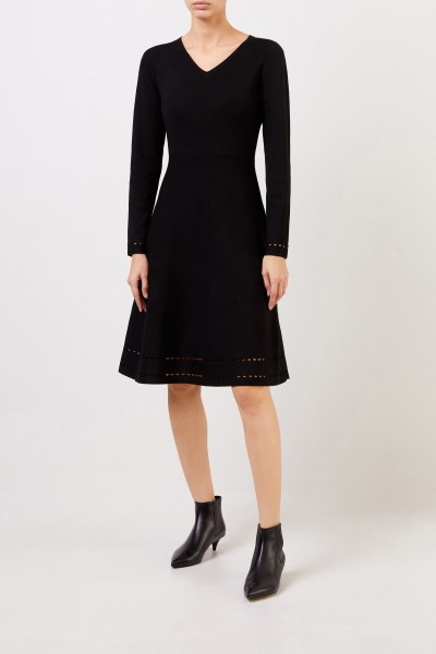 Knitted dress with cut-outs Black