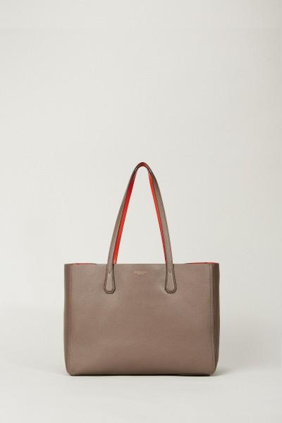 Shopper 'Phoebe' Taupe/Orange