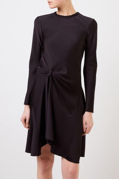 Chloé Satin dress with the knot detail Black