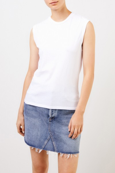 AGOLDE Cotton top 'Muscle Tee' White