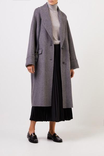 Wool alpaca coat Grey