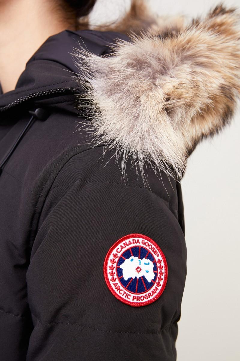 Canada Goose Daunenparka 'Shelburne Parka' mit Fellkragen Schwarz