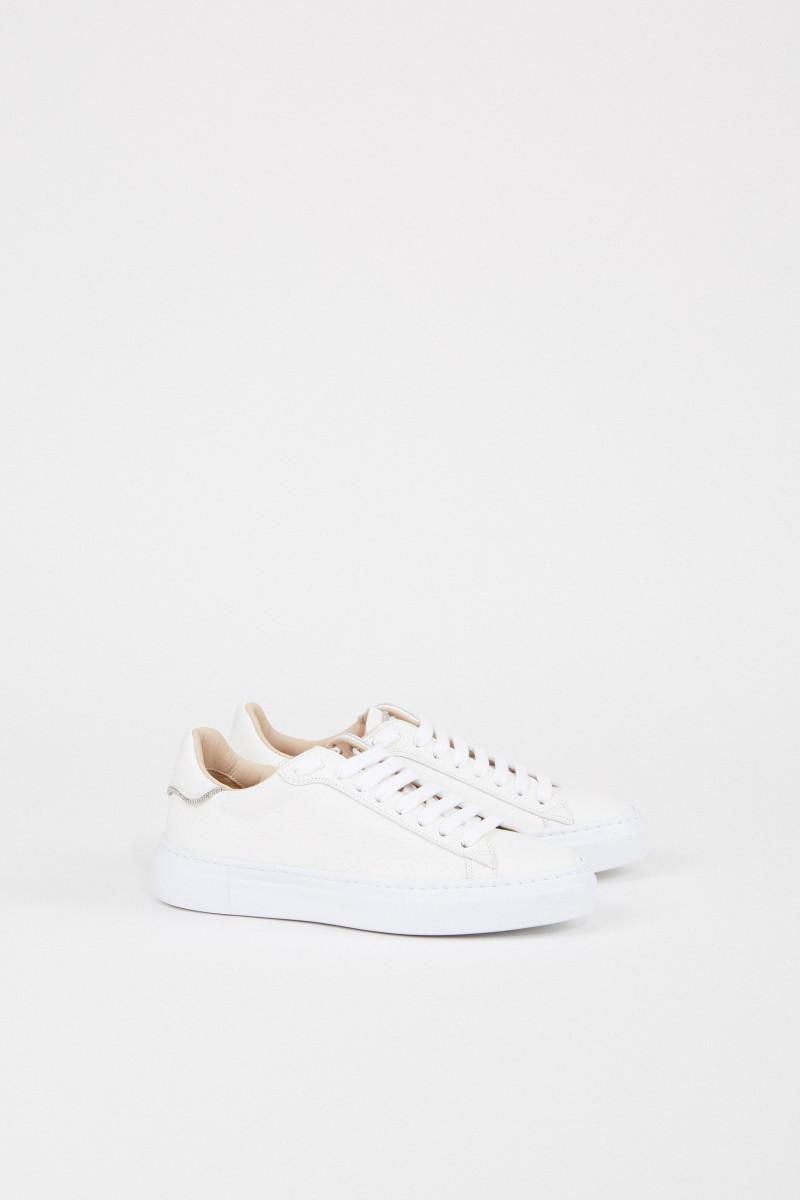 Fabiana Filippi Sneaker mit Perlenverzierung Weiß