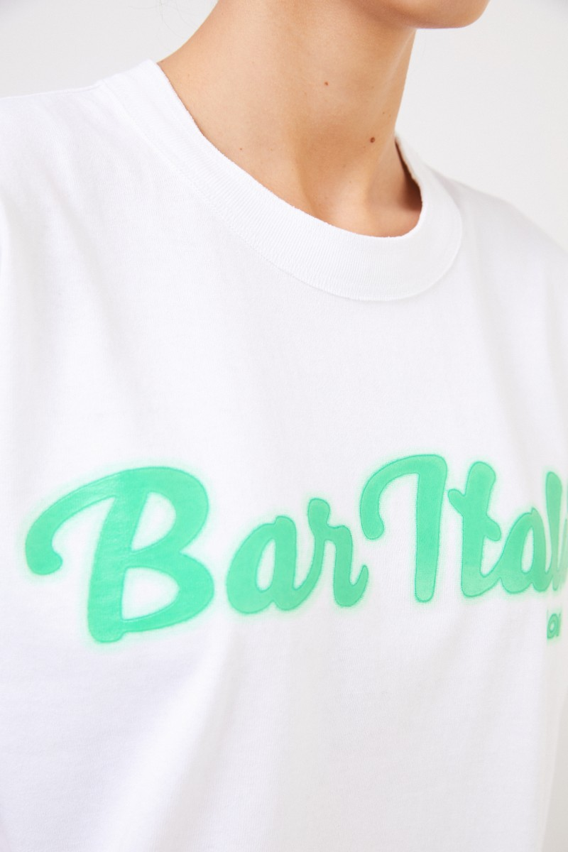 Sacai T-Shit 'Bar Italia' White/Green