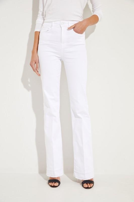 Bootcut-Jeans 'Lisha' Weiß