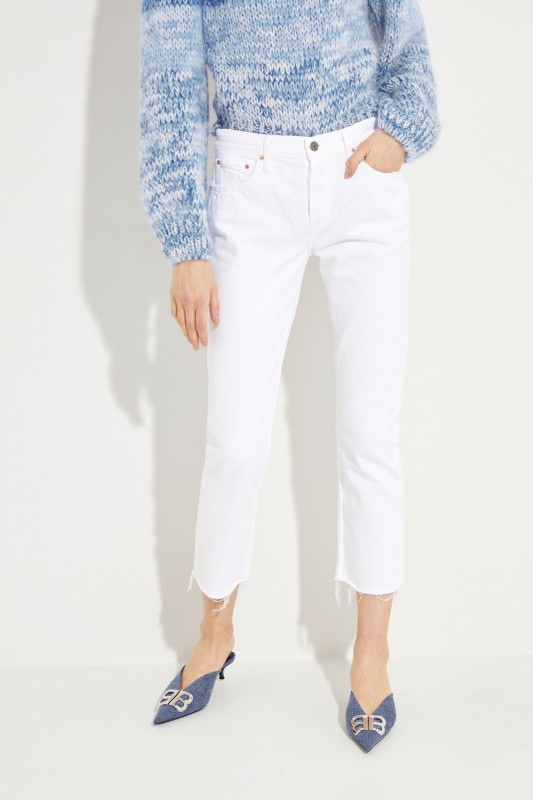 Cropped Jeans 'Helena' with frayed hem Blue