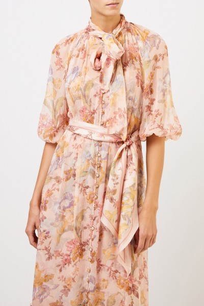 Zimmermann Long two piece silk dress with floral print Multi
