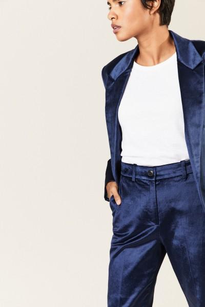 Samt-Hose 'Libby Velvet' Blau