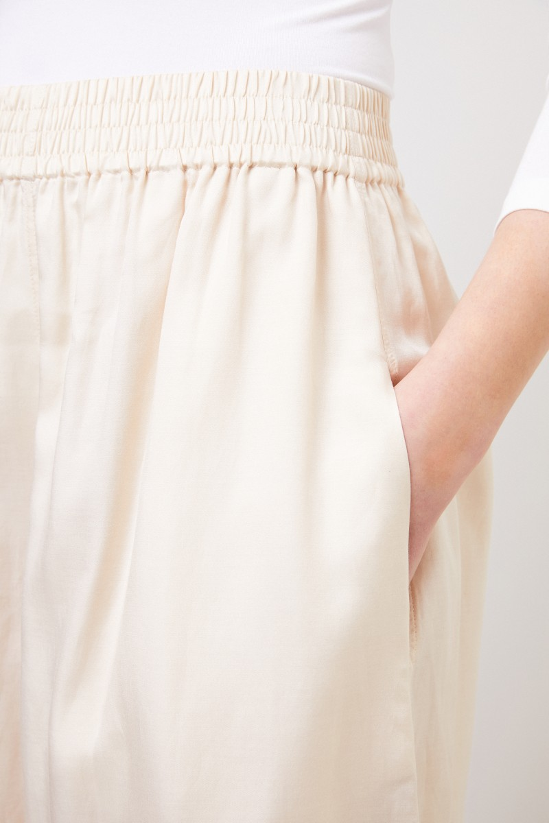 Baumwoll-Seiden-Culotte 'Barlon' Crème