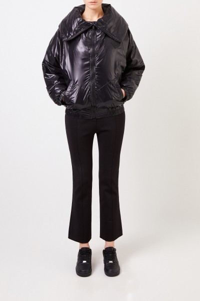 Oversize jacket with collar black