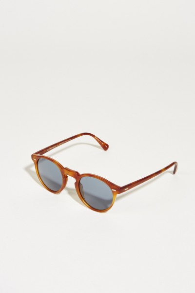 Matte Sonnenbrille 'Gregory' in Horn-Optik Braun