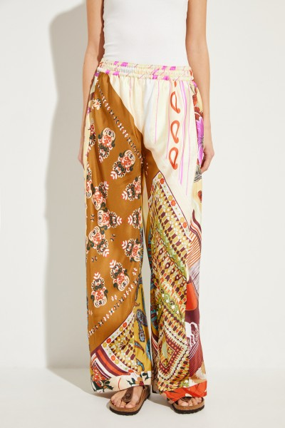 Printed silk pants Multi